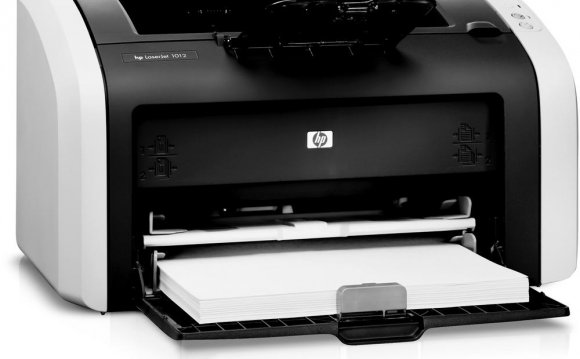 Laser printers toss their dots