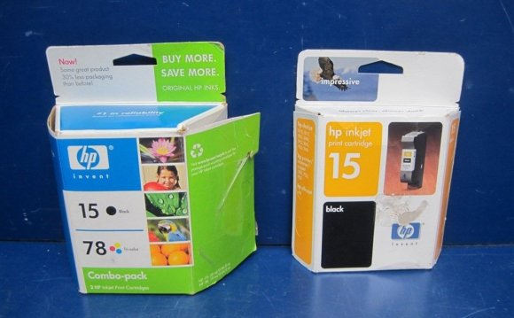 Lot Of 3 Hp Ink Cartridges 15