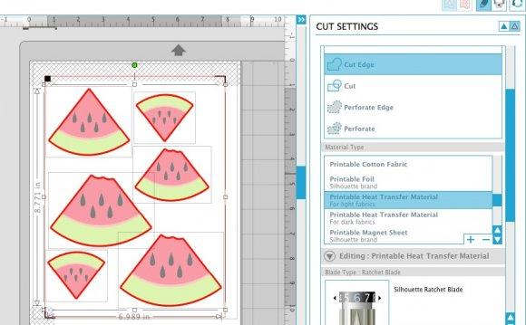 Send the design to cut