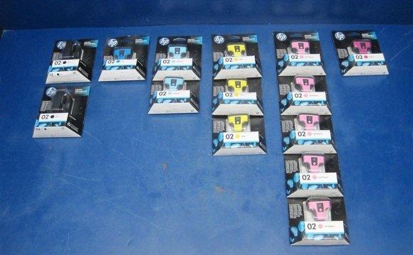 Lot Of 14 Hp Inkjet Cartridges