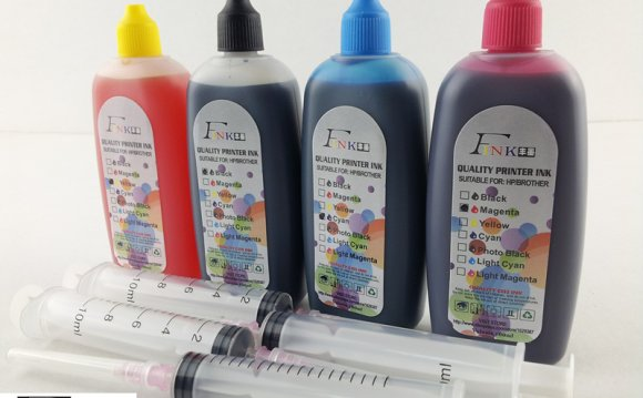 4 bottles refill dye ink for