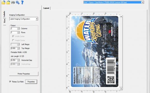 The Epson ColorWorks inkjet
