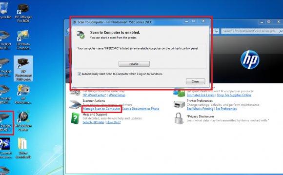 Scanner software for HP printer [Compatible inkjet cartridges]