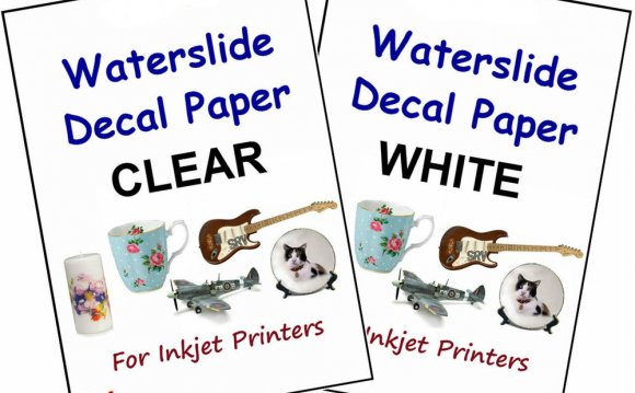 Clear decal paper for inkjet printers
