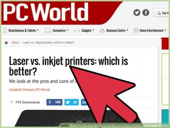 Image titled Decide Whether to purchase an Inkjet Printer or a Laser Printer action 2