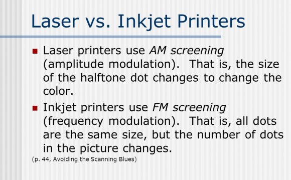 Differences between Inkjet and laser printers