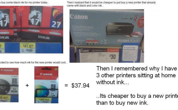 Laser printer cheaper than inkjet